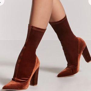9ae78866652e Forever 21 Shoes - Forever 21 Black Velvet Sock Boot
